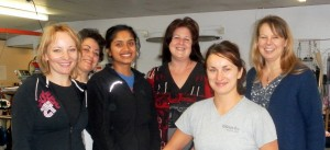 Left-to-right: Kasia, Liza, Apeksha, Gill, Jo, Carol