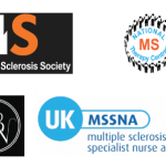 Logos of MS Society, National MS Therapy Centres, Association of British Neurologists, and the UK MSSNA