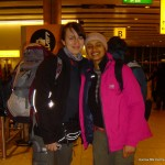 Jo & Apeksha at Heathrow