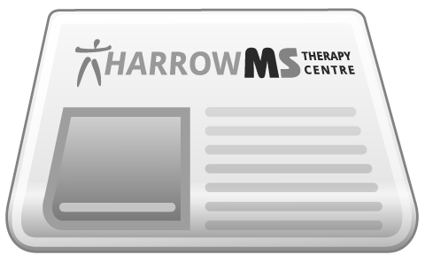 Harrow MS Therapy Centre mock newspaper
