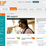 MS Society Support hub page