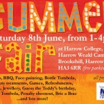 Summer Fair in aid of Harrow MS Therapy Centre, June 8th 2013 at Harrow College's Harrow Weald Campus