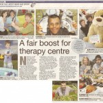 Scanned version of the Harrow Observer newspaper article about the Summer Fair at Harrow MS Therapy Centre