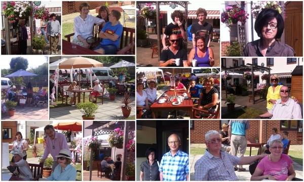 Collage of images from the Cream Tea Afternoon