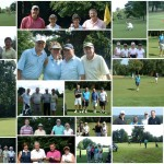 A collage of images from the Charity Golf Day at Moor Park Golf Club