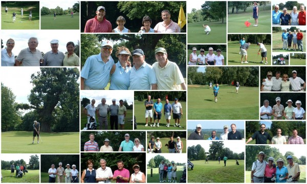 A collage of photos from the Charity Golf Day at Moor Park Golf Club