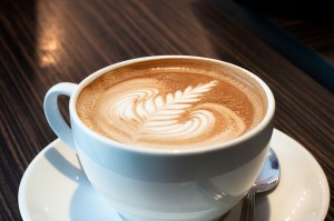 A cup of cappuccino