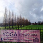 Poster for Yoga on the Farm event