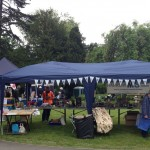 Our pitch at the Eastcote Gardens Summer Picnic