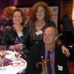Liza, Gill and Jerry at QuDos reception