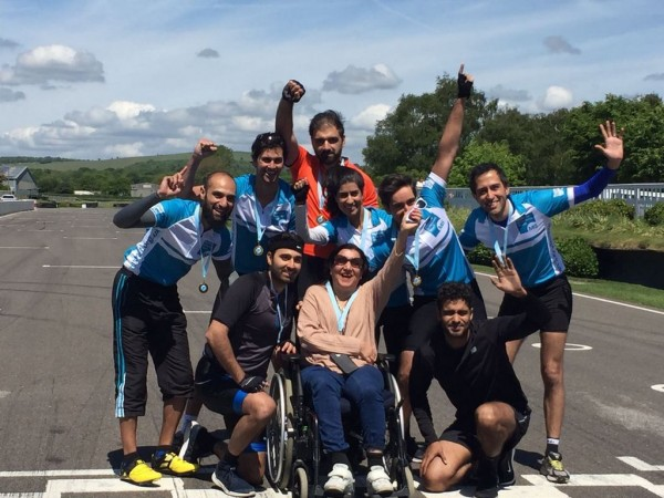 Lalita, family and friends at the MS Circuit Challenge