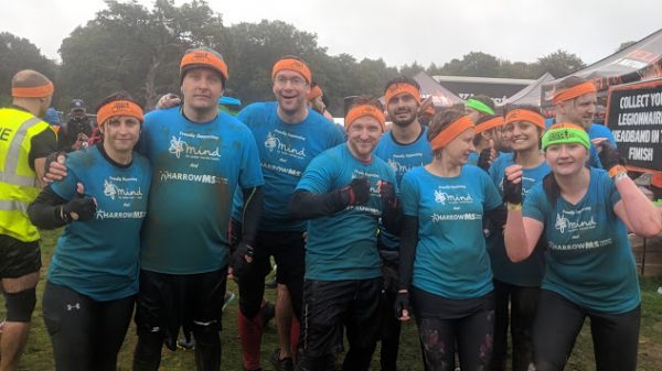 The team after the event (muddy!)