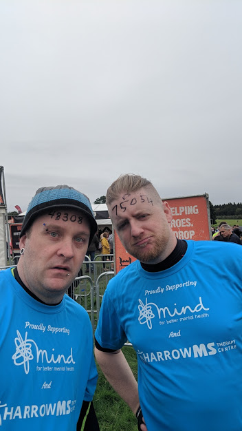 Tough mudderers Steve and friend