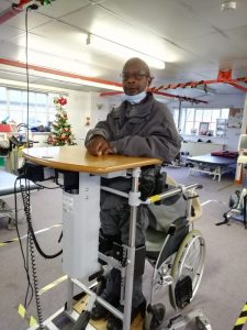 Sedley Gayle who wheeled himself from his home to the Centre in November 2020